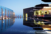 Portugal, Madeira, Funchal, Hotel design The Vine, architect Ricardo Boffil from Spainl, designer Nini Andrade from New York and Madeira, opened in 2010, the roof terrace and swimming pool