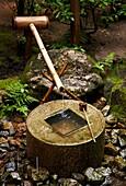 Tsukubai, Stone-wash basin, Zen philosophy, Ryoanji Temple, Kyoto, Japan