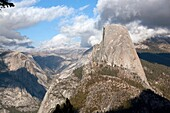 America, away from it all, cloud, cloudscape, Color image, day, famous, feature, geological, Geological formation, geology, getting away, Getting away from it all, Half Dome, landmark, landscape, mountain, Natural world, no people, north america, outdoor,