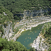 abrupt, Ardèche, attraction, canoe, canyon, cliff, Color image, contemporary, corniche, day, destination, discovery, ecosystem, Europe, forest, formation, France, French, geological, geology, gorge, green, Haute, landmark, Landscape, location, majestic, m