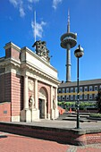 D-Wesel, Rhine, Lower Rhine, North Rhine-Westphalia, NRW, Berliner-Tor-Platz, Berlin Town Gate, part of the former town fortification, baroque, behind the telecommunication tower Langer Heinrich