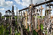 Lithuania, Central Lithuania, Siauliai, Hill of Crosses, religious pilgrimage site