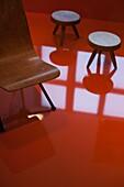 France, Paris, Museum of Decorative Art, exhibit of contemporary french furniture, Mobi Boom, wood furniture