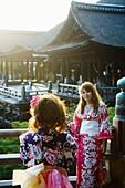 Japan, Kyoto, Kiyomizu temple, buddhist worship.
