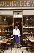 France, Cellar-Restaurants, wine, Paris, restaurant of Pierre Jancou, ´Racines´, boss in full action