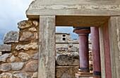 Entrance to the ritual baths, Palace of Knossos, Crete Island, Aegean Sea, Greece