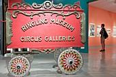Florida, Sarasota, John and & Mable Ringling Museum of Art, estate, Circus Museum, wagon