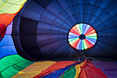 Hot Air Balloon Being Inflated, Tigard, Oregon, USA