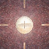 Four State Corners Emblem, Teec Nos Pos, AZ, USA