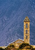 Sant Miguel d'Engolasters was built sometime before the 12th century, in an austere Romanic style of Andorra  It´s one of Andorra´s cultural gems  Engolasters is a village in the parish of Escaldes-Engordany Andorra situated 1504 meters above sea level  E