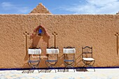 Moroccan architecture at the Hotel Kasbah Asmaa in Midelt, Morocco