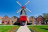 Architecture and shops of the Dutch Village tourist attraction in Holland, MIchigan, USA