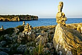 Weathered rocks of Manacor Cala Marina Varques Balearic Islands Mallorca Spain