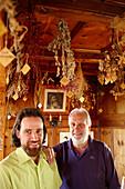 Hotel owner in the Room of Herbs, Ecohotel Grafenast, Am Hochpillberg, Schwaz, Tyrol, Austria