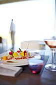 Light meal and drinks in the restaurant, Hotel La Réserve Ramatuelle, Chemin de la Quessine, Ramatuelle, France