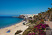 Seaside promenade, Morro Jable, Jandia peninsula, Fuerteventura, Canary Islands, Spain