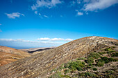 Overlook from viewpoint Degollada del Viento, Fuerteventura, Canary Islands, Spain