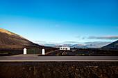 Haus im Weinanbaugebiet auf Lava, Anbaugebiet La Geria, Lanzarote, Kanarische Inseln, Spanien, Europa