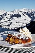 Apple Strudel, Melkalm, Hut, Skiing, Kitzbuhel, Tyrol, Austria