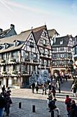 Historic quarter in winter, Colmar, Alsace, France