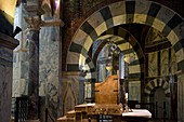 Throne of Charlemagne, Aachen Cathedral, UNESCO World Heritage Site, Aachen, North Rhine Westphalia, Germany