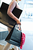 Young woman with shopping bags, Shopping