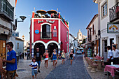 Cafes in a street at Lagos, Algarve, Portugal, Europe