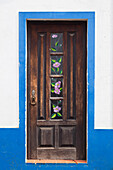 pretty door in Sao Teotonio, Alentejo, Portugal, Europe