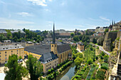 Neumuenster abbey with Alzette valley, Luxemburg, Luxembourg, Europe