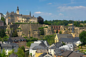 St. Michaelis church with Grund district, Luxemburg, Luxembourg, Europe