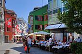 Restaurant in the Augustinergasse, Zurich, Switzerland