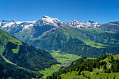 View on Eneglberg and Titlis, Engelberg, Canton of Obwalden, Urner Alps, Switzerland