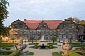 Baroque palais Kleines Schloss, baroque gardens, Blankenburg am Harz, Harz, Saxony-Anhalt, Germany