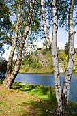 Landscape near lake Rappbodevorsperre, Trautenstein, Harz, Saxony-Anhalt, Germany