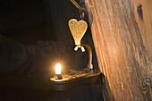 Mine lamp, Oberharzer Bergwerksmuseum, mining museum, Clausthal Zellerfeld, Harz, Lower Saxony, Germany