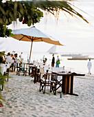 Bar and Restaurant at Forodhani city beach, Stone Town, Zanzibar, Tanzania, East Africa
