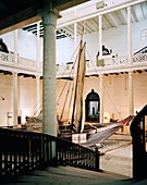 House of Wonder (National Museum), old traditional sailer dhow, Stone Town, Zanzibar, Tanzania, East Africa
