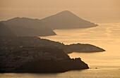 Blick auf die Nordküste bei Sonnenuntergang, Elba, Toskana, Italien, Europa
