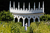 The Exedra at Roccoco Gardens, Painswick, Gloucestershire, Cotswolds, England, Great Britain, Europe