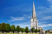 Graveyard of St. Mary's church, Painswick, Gloucestershire, Cotswolds, England, Great Britain, Europe