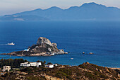 View of Agios Stefanos and the peninsula of Kefalos, Kos, Dodecanese Islands, Greece, Europe
