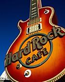 cafe, chain, franchise, guitar, hard, hard rock, La. America, Cafe, Chain, Franchise, Guitar, Hard, Holiday, Landmark, Las vegas, Logo, Nevada, Outdoors, Restaurant, Rock, Sign, Tou