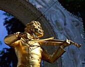 arch, Austria, blue, bow, famous people, gold, inst. Arch, Austria, Blue, Bow, Famous, Gold, Holiday, Instrument, Johann strauss, Landmark, Monument, Musical, People, Play, Playing