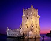 Belem, dusk, fortress, gothic, isolation, Lisbon, m. Belem, Dusk, Fortress, Gothic, Holiday, Isolation, Landmark, Lisbon, Manueline, Maritime, Medieval, Monument, Portugal, Europe