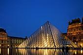 architecture, Europe, France, Louvre, museum, night. Architecture, France, Europe, Holiday, Landmark, Louvre, Museum, Night, Paris, Pyramid, Tourism, Travel, Vacation, World travel