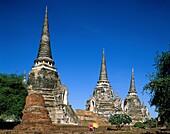 Asia, Ayutthaya, temple, Thailand, Asia, Wat Phra S. Asia, Ayutthaya, Holiday, Landmark, Phra, Sanphet, Sri, Temple, Thailand, Tourism, Travel, Vacation, Wat, World travel