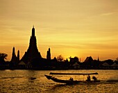 Bangkok, boat, river, sunset, temple, Thailand, Asi. Asia, Bangkok, Boat, Holiday, Landmark, River, Sunset, Temple, Thailand, Tourism, Travel, Vacation, Wat arun