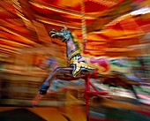amusement, blackpool, carnival, carousel, England, . Amusement, Blackpool, Carnival, Carousel, England, United Kingdom, Great Britain, Entertainment, Fair, Fast, Holiday, Landmark