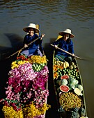 Asia, Asian, Bangkok, floating, flowers, fruit, mar. Asia, Asian, Bangkok, Floating, Flowers, Fruit, Holiday, Landmark, Market, People, Thailand, Tourism, Travel, Vacation, Vegetabl