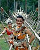 Asia, Asian, costume, headdress, iban, Malaysia, As. Asia, Asian, Costume, Headdress, Holiday, Iban, Landmark, Malaysia, Outdoors, People, Sarawak, Smile, Smiling, Tourism, Travel
